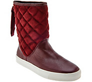 As Is Isaac Mizrahi Live! SOHO Quilted Boots with Back Ribbon Detail - A280776