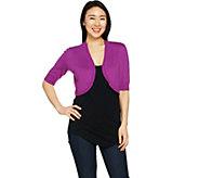 C. Wonder Elbow Sleeve Cropped Sweater Shrug - A291076