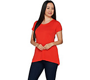 H by Halston Essentials Short Sleeve Hi-Low Hem Swing T-shirt - A293976