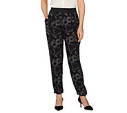 As Is Styled by Joe Zee Floral Printed Pull-on Woven Jogger Pants - A298376