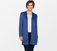 Susan Graver Weekend Brushed Knit Cardigan - A298476