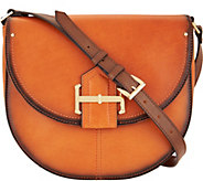 As Is Tignanello Vintage Leather Loredo Saddle Crossbody - A299676