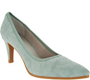 Lori Goldstein Collection Washed Linen Pumps with Crepe Bottom - A302876