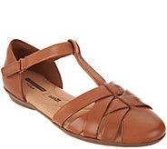 Clarks Leather T-Strap Fisherman Shoes - Gracelin Art - A303276