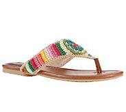 Sakroots Crochet Thong Sandals - Shana - A333176