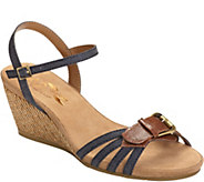 A2 by Aerosoles Heel Rest Wedge Sandals - CrumbCake - A358076