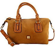 V Couture by Kooba Staci Satchel w/ Contrast Trim & Strap - A224677