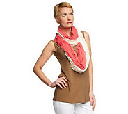 Attitudes by Renee Sleeveless Top w/ 2 Infinity Eyelash Scarves - A231677