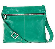 Hobo Lorna Leather Crossbody Bag with Front Zipper Pocket - A234477
