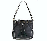 As Is Dooney & Bourke Florentine Leather Drawstring Bag - A239677