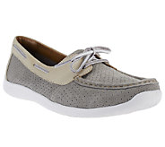Clarks Suede Slip-on Boat Shoes - Arbor Opal - A240277