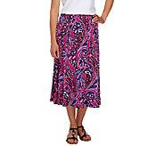 Bob Mackies Jubilee Print Knit Skirt - A254277
