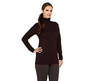 As Is Susan Graver Essentials Turtleneck Sweater - A255077