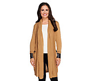 Nicole Richie Collection Cardigan with Faux Leather Detail - A257577
