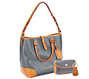 Dooney & Bourke Embossed Pebble Leather Shelby Shopper with Wristlet - A262277