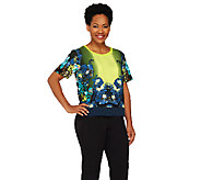 View by Walter Baker Short Sleeve Woven Top - A263077