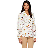 Kelly by Clinton Kelly Roll Tab Long Sleeve Blouse - A266477