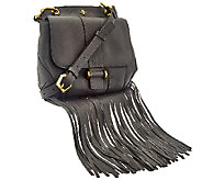 orYANY Italian Grain Leather Fringe Crossbody - Fannie - A266677
