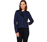 SA by Seth Aaron Snake Embossed Jacket w/ Faux Leather Details - A268977