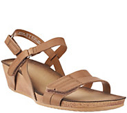 As Is Clarks Leather Wedge Sandals - Alto Gull - A271377