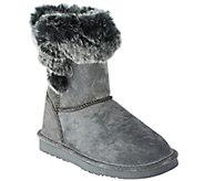Lamo Water Resistant Suede Boots w/ Faux Fur - Sable - A271877