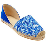 Marc Fisher Two-piece Espadrilles w/ Floral Detail - Manda - A274777