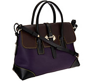 As Is Dooney & Bourke Verona Leather Elisa Satchel - A275277