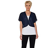 Kelly by Clinton Kelly Short Sleeve Cocoon Shrug - A278477