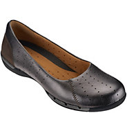 As Is Clarks Unstructured Leather Slip-ons - Un.Hearth - A280377