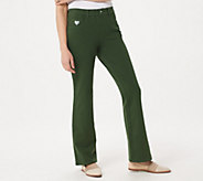 As Is Quacker Factory DreamJeannes Regular Pull-On Boot Cut Pants - A284477
