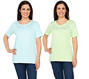 As Is Quacker Factory Set of 2 Sparkle and Shine T-shirts - A284977