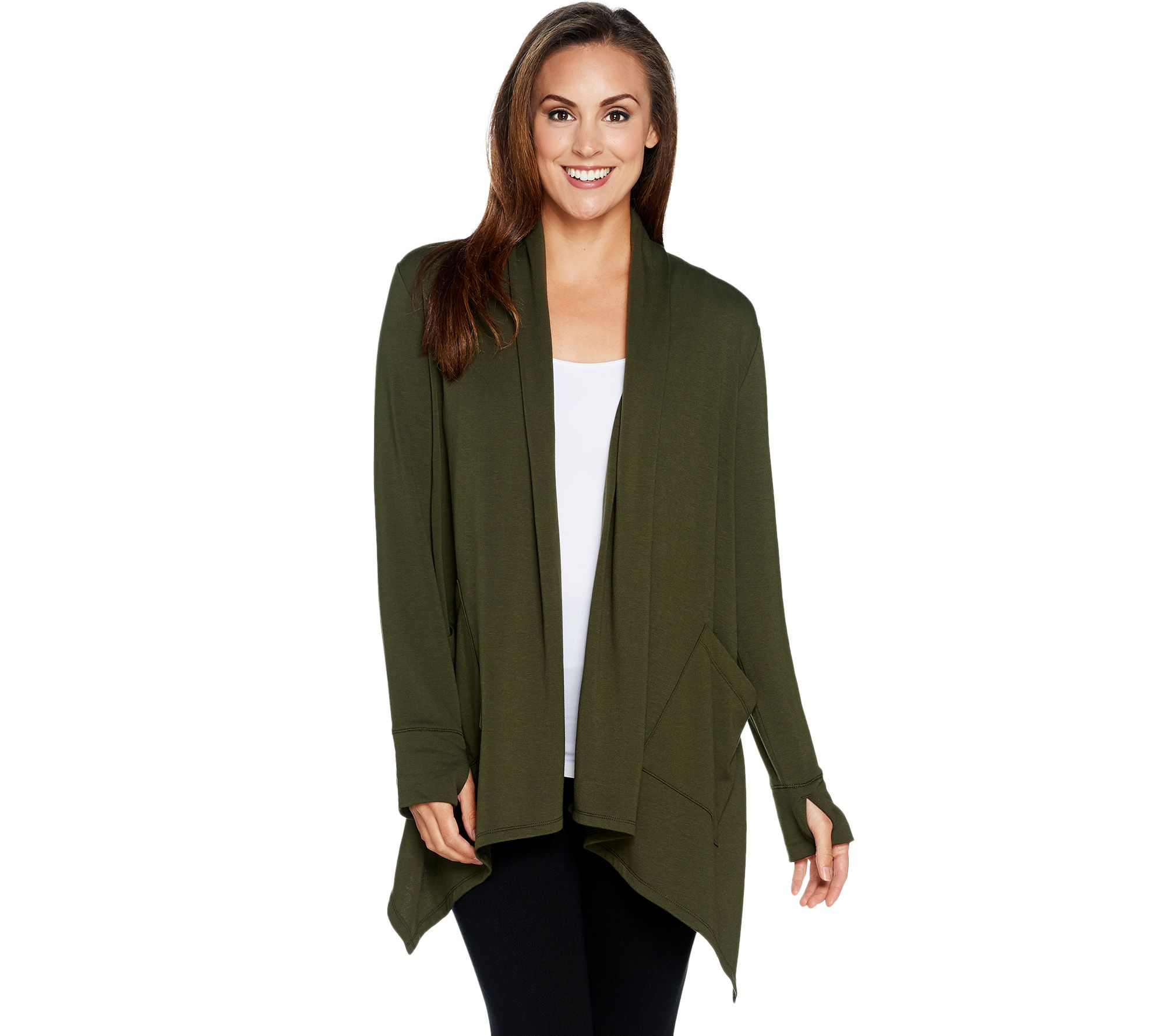 Cuddl Duds Comfortwear French Terry Cascade Front Cardigan - Page ...
