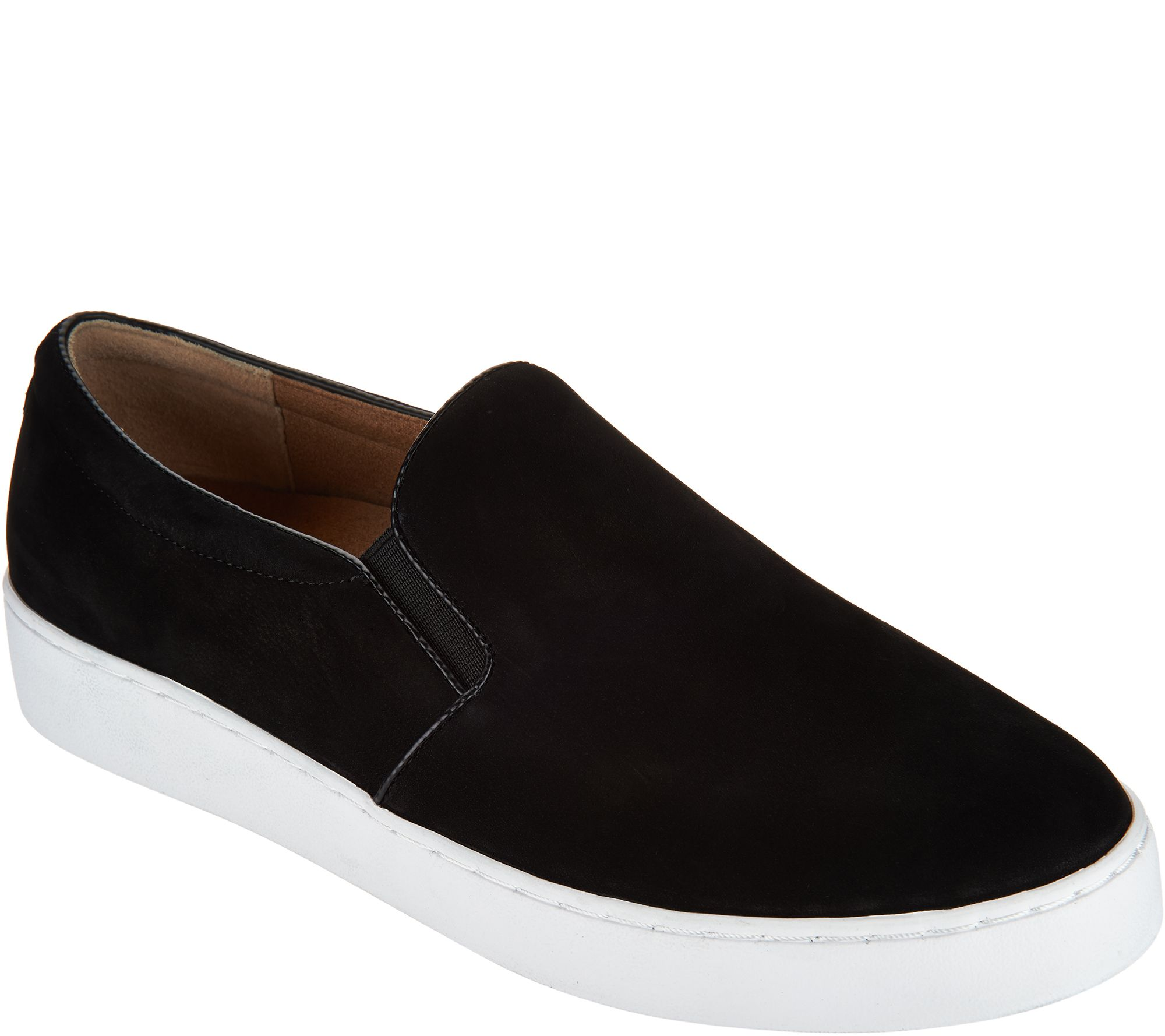 Bedroom Shoes. Vionic Orthotic Leather or Suede Slip On Shoes  Midi A293677 Sandals Slippers More QVC com