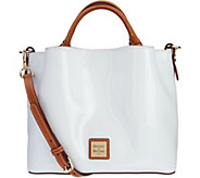 Dooney & Bourke Patent Leather Small Brenna Satchel Handbag - A293777