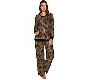 Carole Hochman Petite Waffle Fleece Novelty Pajama Set - A294077