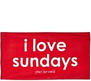 Peace Love World 64 x 34 Printed Beach Towel - A295077