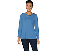Belle by Kim Gravel Essentials Curvallusion Top w/ Grommets - A296577