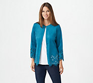 Bob Mackies Faux Suede Jacket with Cut Out Detail - A298677