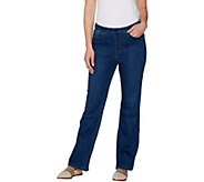 Denim & Co. Regular Modern Denim Lightly Bootcut Pull-on Jeans - A301777