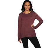 As Is AnyBody Loungewear Cozy Knit Relaxed Peplum Top - A308477