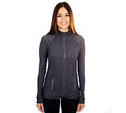 90 Degree by Reflex Zip Font Active Jacket with Pockets - A330777