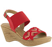 Tuscany by Easy Street Wedge Sandals - San Remo - A339077