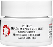 First Aid Beauty Eye Duty Triple Remedy Overnight Balm, 0.5 oz - A339377