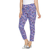 As Is Isaac Mizrahi Live! Petite 24/7 Stretch Print or Solid Pants - A342977