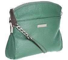 Tignanello Luxe Pebble Leather Crossbody w/ Chain Detail
