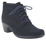Clarks Water Resistant Suede Ankle Boots - Ingalls Lace - A236978