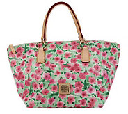 As Is Dooney & Bourke Floral Printed Coated Canvas Tulip Tote - A239678