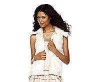 As Is Luxe Rachel Zoe Faux Fur Vest with Hook & Eye Closure - A255178