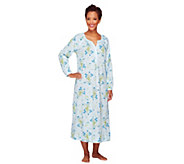 Carole Hochman Cotton Jersey 48 Floral Long Sleeve Nightgown - A256278
