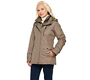 Liz Claiborne New York Zip Front Coat with Hood - A257178